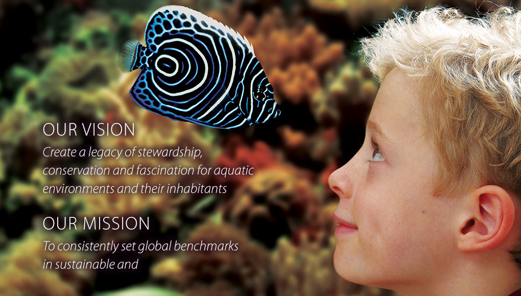 OUR VISION Create a legacy of stewardship, conservation and fascination for aquatic environments and their inhabitants   OUR MISSION To consistently set global benchmarks